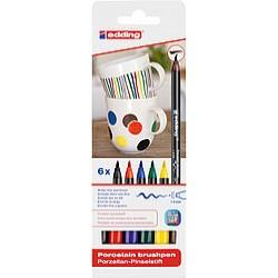 Edding Porselen Kalemi 6 lı Set - Standart Renkler E-4200