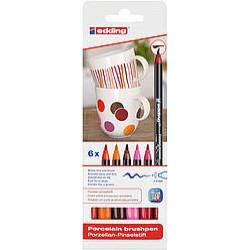 Edding Porselen Kalemi 6 lı Set - Sıcak Renkler E-4200