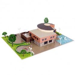 Üç Boyutlu Modern Villa Puzzle   1/75   1+1 li