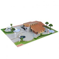 Üç Boyutlu Ahşap Villa Puzzle  1/100 1+ 1 li