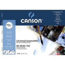 CANSON RESİM BLOK 200GR 35X50 15YP 200153550