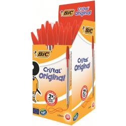 BIC Cristal Medium Tükenmez Kalem Kırmızı 50'li Kutu