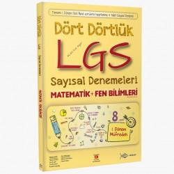 8. Sınıf Dört Dörtlük LGS Sayısal Denemeleri ( Matematik - Fen Bilimleri ) - Etkin Yayınları